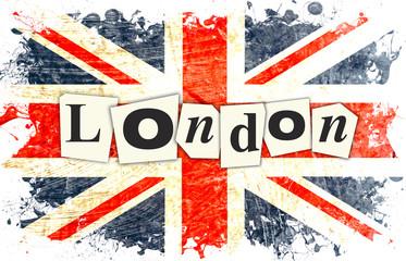 Naklejka drapeau anglais london
