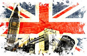 Naklejka drapeau anglais decoupe