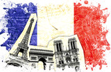 drapeau decoupe france paris