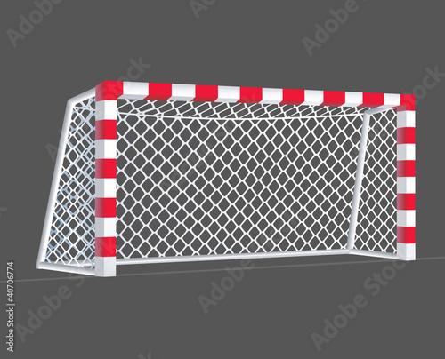 Fotografia, Obraz  Soccer goal with rectangle goalposts.