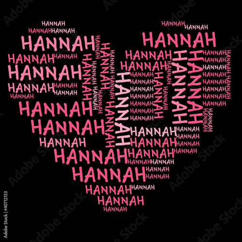 Photo  Ich liebe Hannah | I love Hannah