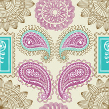 Retro Paisley Seamless Pattern