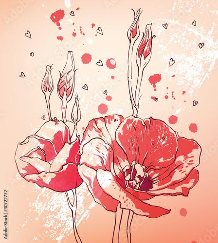 Naklejka dekoracyjna Flower