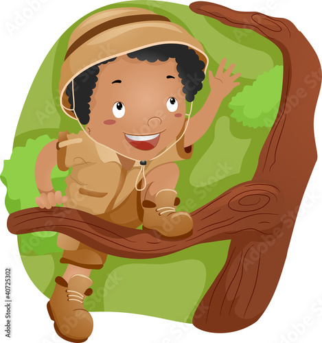 Photo Stands Fairies and elves Tree-climbing Kid