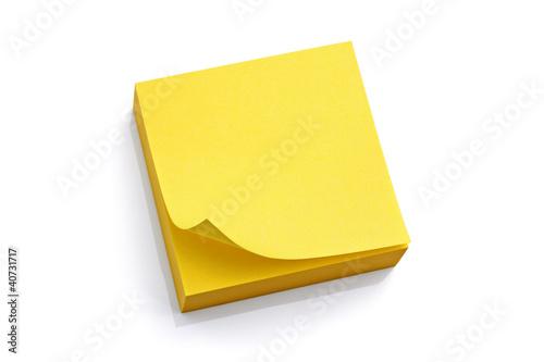 Fototapeta Blank yellow sticky note obraz