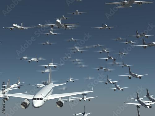 Canvastavla airplane armada