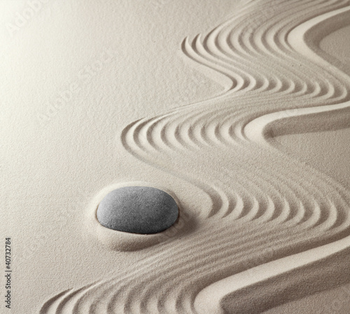 Printed kitchen splashbacks Zen japanese zen garden