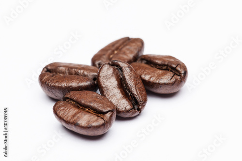 Poster koffiebar Coffee beans close up