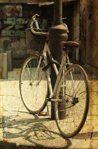 stary-rower-zdjecie-w-starym-stylu-obrazu