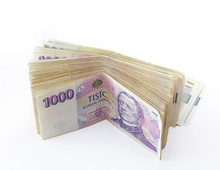 Volume Of Czech Banknotes Nominal Value One Thousand Crowns