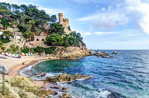 Photo mediterranean sea at the Costa Brava - Lloret de Mar, Spain