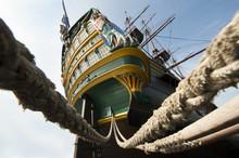 Aft VOC Tall Ship Amsterdam Stern Tall Three Mast