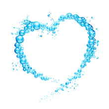 Water Splash Heart