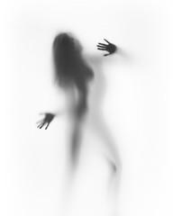 Piękna kobieta sylwetka, ręce