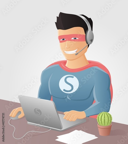 Poster Superheroes Support Hero