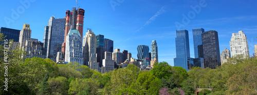 Central Park z panoramą Manhattanu w Nowym Jorku