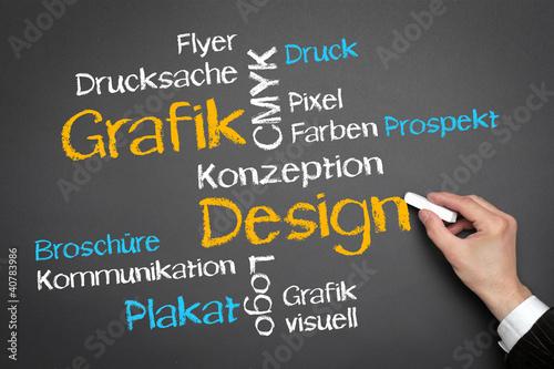 Fotografie, Obraz  Grafik Design Tag Cloud
