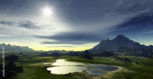 Foto op Aluminium Landschappen fantasy landscape