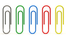 Set Of Colorful Paper Clips Is...