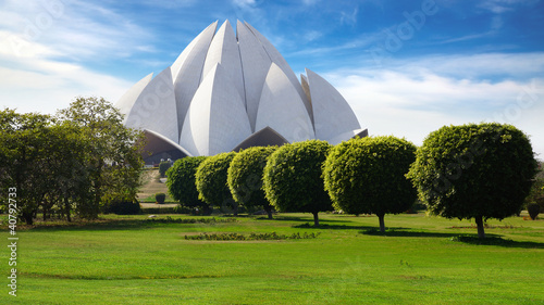 Cadres-photo bureau Delhi Picturesque landscape with Lotus Temple. New Delhi