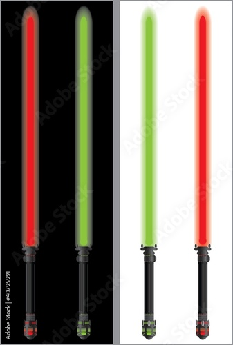 Photo  lightsabers in mirror