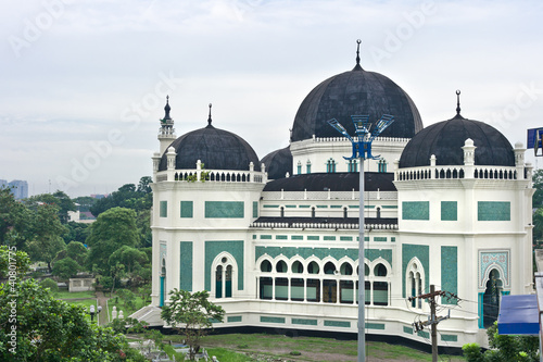 Deurstickers Indonesië Great Mosque in Medan