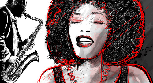 jazz singer and saxophone