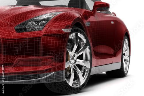 Plakat  Just a red car (3d)