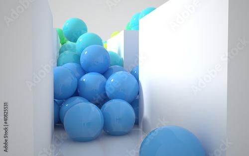 stream of colored balls