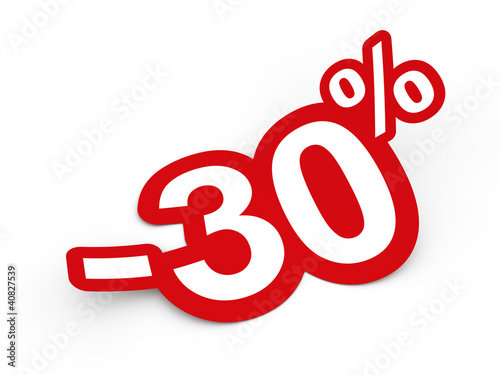 Fotografia  Percent sticker 3d render illustration