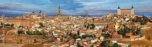 Madrid ancient cities of Spain - Toledo, panoramic view