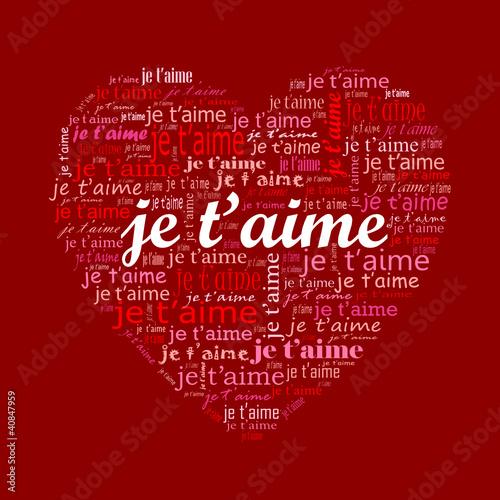 Je Taime Amour Carte Saint Valentin Passion Amoureux