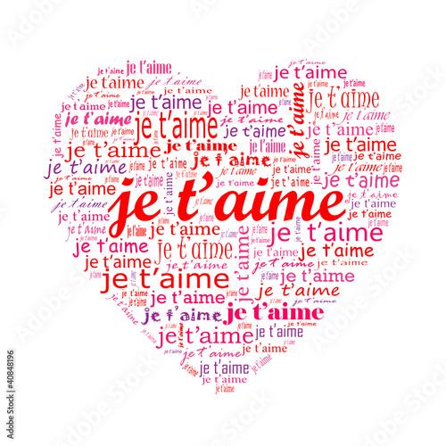 Carte Coeur Je Taime Amour Saint Valentin Passion
