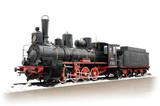 Old Russian steam locomotive