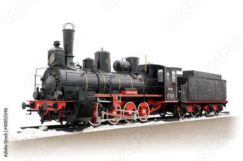Cuadros en Lienzo Old Russian steam locomotive