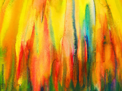 Abstract watercolour painting - fire flames