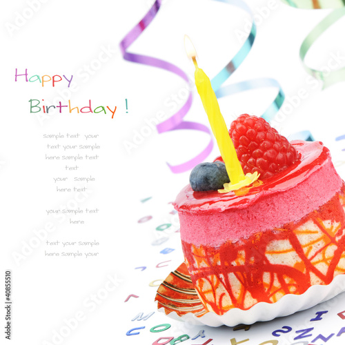Colorful birthday cake Poster