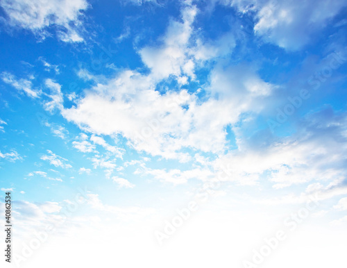 Photo  Blue sky background