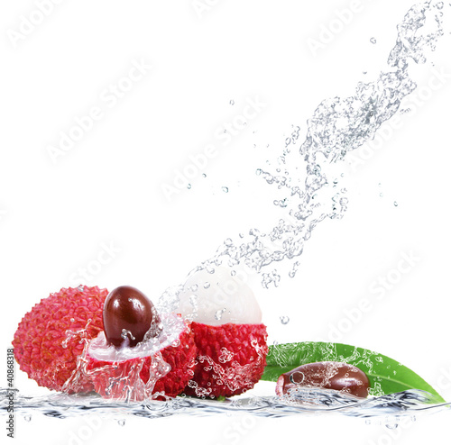 Poster Opspattend water lycis splash