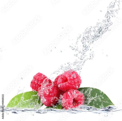 Poster Opspattend water lamponi splash