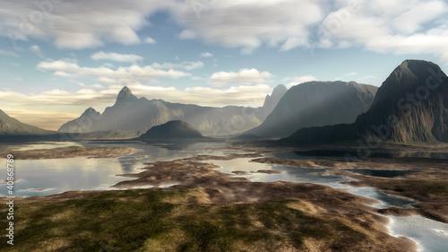 Cadres-photo bureau Cote fantasy landscape