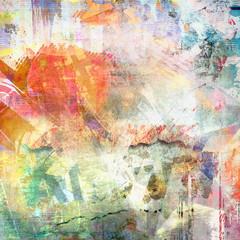 Fototapeta Vintage Abstract grunge illustration, color background
