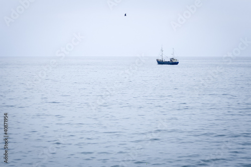Photo  ship in the ocean