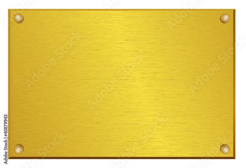 Valokuva  plaque d'entreprise en cuivre et laiton brossé