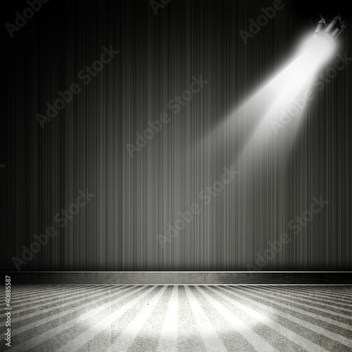 Foto op Canvas Licht, schaduw Background in show. Interior shined with a projector