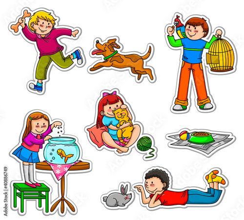 dzieci-ze-swoimi-zwierzetami-domowymi