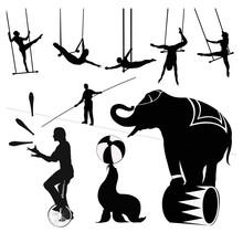 Vector Illustration.Circus Sil...