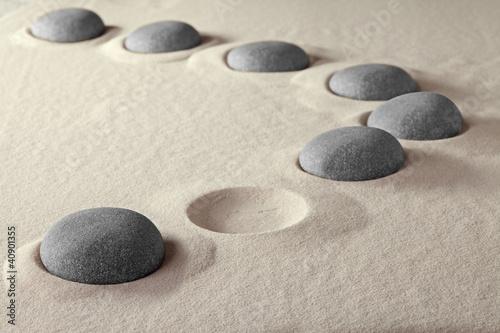 Naklejka na szafę Kamienie na piaski - ZEN