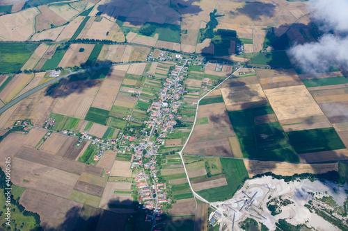 aerial view of village landscape © mariusz szczygieł