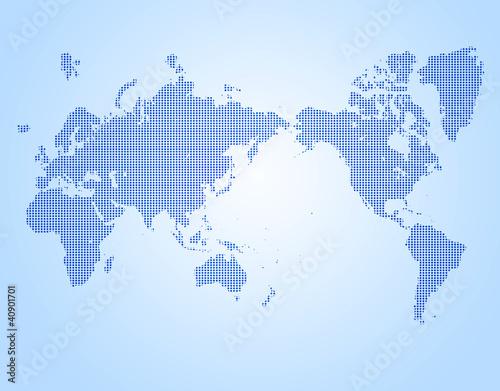 Foto op Canvas Wereldkaart ドットの世界t図